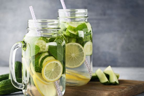Cucumber Lemon hydrator drink