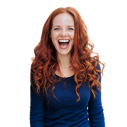 A women smiling