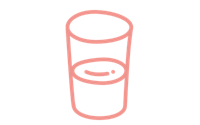 Illustration of a glass with water